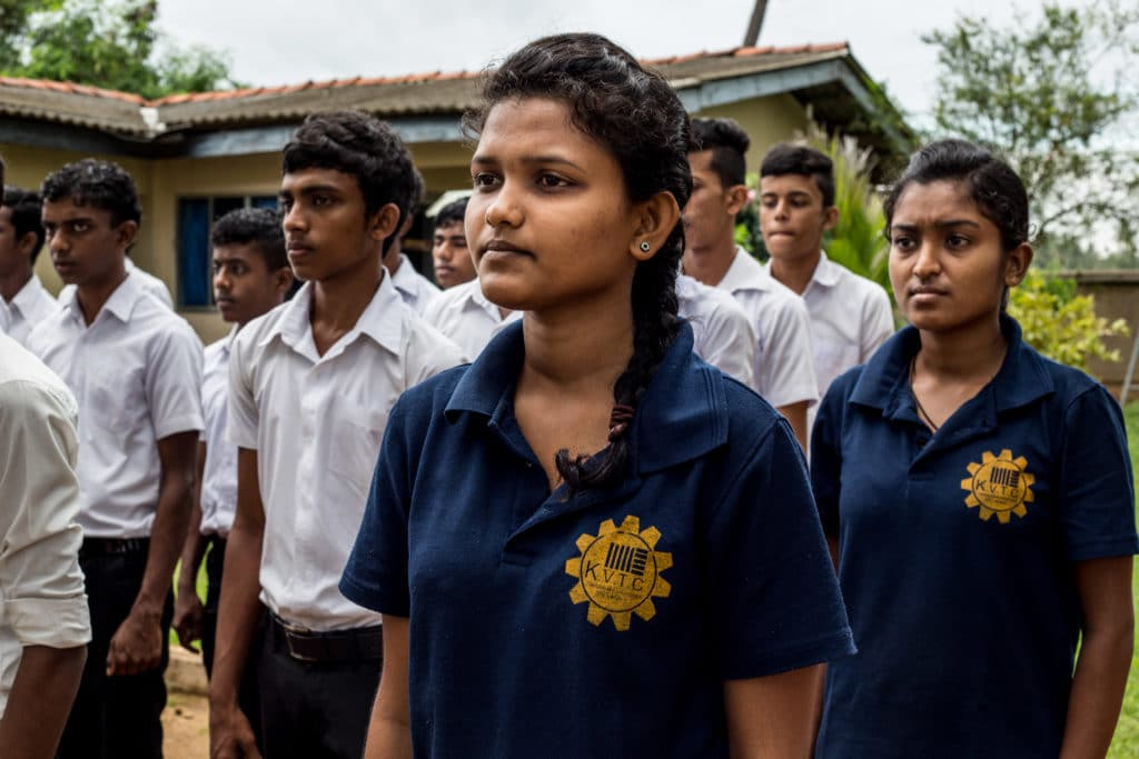 Students at Kavantissa Vocational Training Center in Tissamaharama. Sri Lanka 2015.